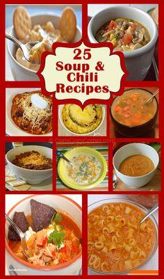 25 Soup and Chili Recipes - Cori's Cozy Corner
