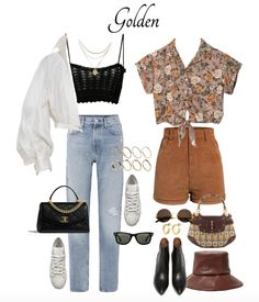 Gorgeous Waist Tutorials From Home Hippie Outfits, Edgy Outfits, Retro Outfits, Cool Outfits, Fashion Outfits, Women's Fashion, 90s Inspired Outfits, 70s Inspired Fashion, 60s And 70s Fashion