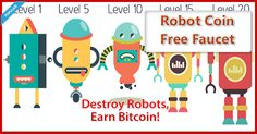 Defeat Robots to earn awesome #Bitcoin rewards! Upgrade your attacks to defeat Robots faster. After every zone, you will face tougher robots, but win better rewards #btc   #bitcoins   #bitcoinfaucet   #money   #earnbitcoins