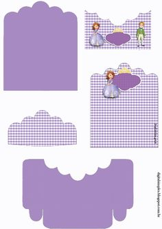 Sofia the First: Free Printable Candy Package Support.