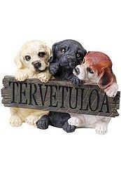 Tervetuloa-kyltti koirat 29,90€ Welcome, Signs, Animals, Animales, Animaux, Shop Signs, Animal, Animais, Sign