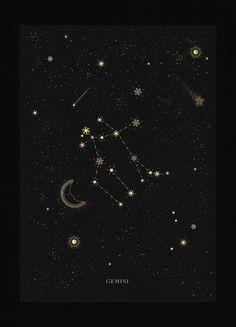 Aquarius Constellation - Aquarius zodiac constellation gold metallic foil print on black paper by Cocorrina - Sagittarius Wallpaper, Sagittarius Art, Aquarius Zodiac, Aquarius Art, Astrology Taurus, Astrology Numerology, Numerology Chart, Astrology Chart, Astrology Signs
