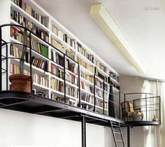 44 Smart Bookshelves Design Ideas You Need To Know. If you have a need for bookshelves in your office and a bit of a Do-it-Yourself prowess, there is no reason why you cannot build your own bookshelve. Future Library, Library Room, Dream Library, Library Bookshelves, Bookshelf Design, Bookcase, Bookshelf Ideas, Black Bookshelf, Home Library Design