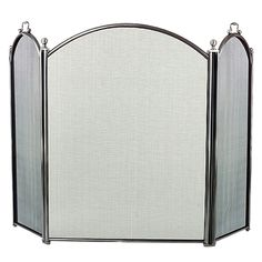 Three-Fold Pewter Arched Screen - Small  52 wide x 29 high  $181