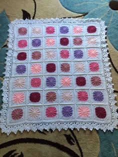 Beautiful and Delicate Crochet Blanket
