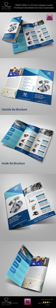 Business Trifold Brochure  Corporate Brochure Brochures And