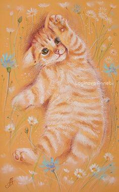 Soft and fluffy cats of Annet Loginova https://www.etsy.com/people/AnnetPainting   http://www.livemaster.ru/l-annet Annet Loginova: