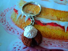 key chain lava cake miniature polymer clay by EVELjewlery on Etsy Lava Cakes, Miniature Food, Key Chain, My Design, Polymer Clay, Miniatures, Create, Handmade, Etsy