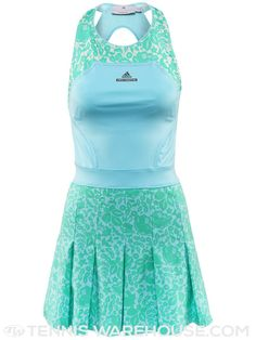 adidas Spring Stella McCartney Barricade Tennis Dress (Blue & Mint)
