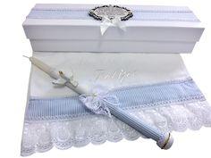 Vela decorada batizado e toalha com nome