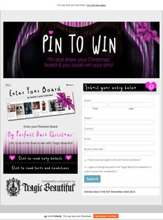 Pin and Win promotion from Tragic Beautiful #pinterestpromotion…