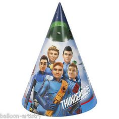 8 #thunderbirds are go #children's #party paper #party cone hats,  View more on the LINK: http://www.zeppy.io/product/gb/2/311559924021/
