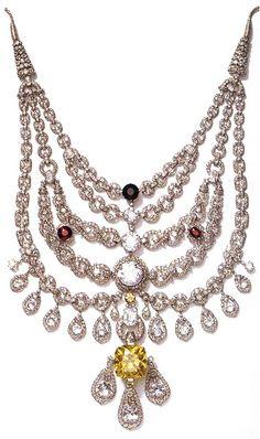 The Maharajah of Patiala necklace, Cartier, 1928.