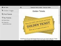 The new Cook'n Friends feature is LIVE!  Your golden tickets ready to use!
