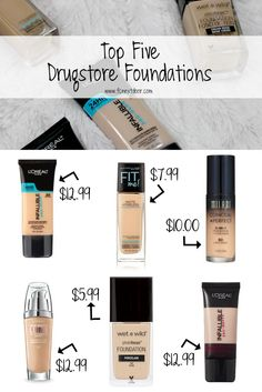 Top Five Drugstore Foundations