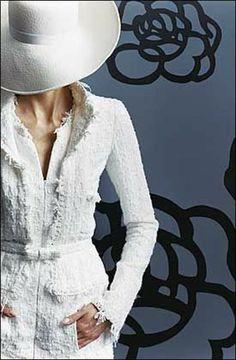 Chanel White Tweed Shirt Dress