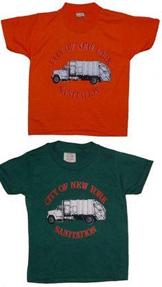 Children's sanitation truck t-shirt - City of New York Sanitation with garbage truck screenprinted on tee