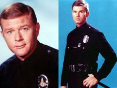 Then: Martin Milner and Kent McCord Martin Milner, Adam 12, Los Angeles Police Department, Golden Age Of Hollywood, Chef Jackets, Tv Shows, Youtube, Youtubers, Youtube Movies
