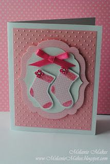 baby shower card -- great use if christmas stocking die cuts