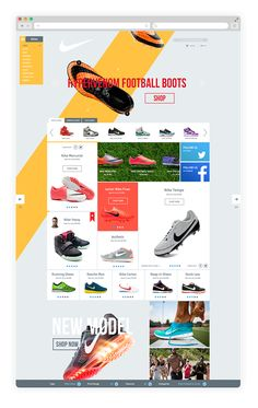 Nike Shop Redesign on Web Design Served