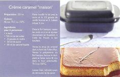 """Crème caramel """"maison"""" - TUPPERWARE"""