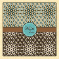 Floral and vintage pattern digital by PeDeDesigns