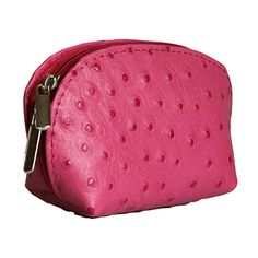 Pink Ostrich Leather Coin Purse Now With Free Uk Postage