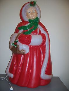 christmas decoration mrs santa blow mold outdoor yard light