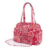 My ideal diaper bag - lined, lots of pockets, a pacifier holder, changing pad, and super cute!