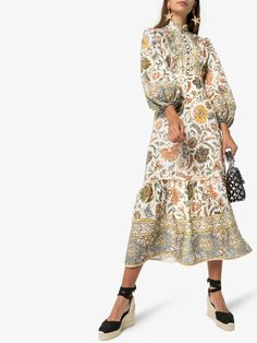 Your favorite top fashion brands and emerging designers all in one place. Shop now at Farfetch with express delivery and free returns. Gown Suit, High Fashion, Womens Fashion, Printed Cotton, Dress Up, Blouse Dress, Formal, Ideias Fashion, Women Wear