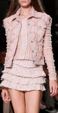 Isabel Marant RTW Spring 2014 -- the fashion world is determined to make me wear pink!!