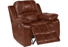 Fenway Heights Brown Leather Glider Recliner from Furniture  sc 1 st  Pinterest : recliners auburn ca - islam-shia.org