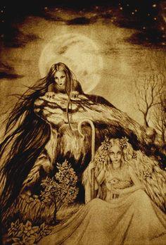Morana (death) and Vesna (birth)  In slavic paganism Morana (Morava) is witch goddess
