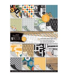 Papermania Mr. Mister Double - Sided A4 Paper Pack