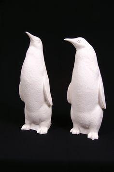Penguin Sculpture by Ottmar Hörl - Lime Lace £90 #penguin #sculpture #statue #ornament