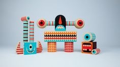 The guys over at Invisible Creature have done it again! This time collaborating with Michigan-based toy maker Uncle Goose, producer of hand-crafted wooden toy blocks of the highest quality. Stack A. Invisible Creature, Monster Toys, Monster Hands, Art Articles, Christmas Gift For You, Best Kids Toys, Wooden Blocks, Pretty Baby, Paper Toys