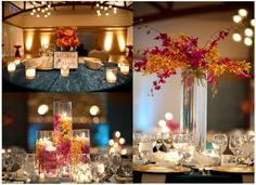 Wedding with tons of orchids; orchid wedding reception