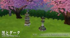 TS4 - Lantern & Incenseburner ~ Noir and Dark Sims