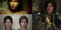 lara croft's face comparison 2013 vs. 2015