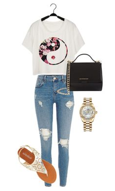 Everyday Look by jenimarrivera on Polyvore featuring polyvore, fashion, style, Olivia Miller, Givenchy, Rolex and clothing