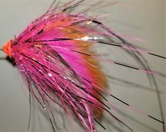 A Dirty Hoh style steelhead tube fly with lots of flash and rabbit.