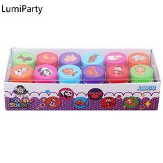 LumiParty 12 sztuk Stamp Stemple dla Scrapbooking Cute Panda Kreskówki Dla Dzieci Czerwony Znaczki dla MAJSTERKOWICZÓW Scrapbook Album