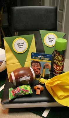 #football party, party favors