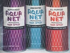 Give me my purple Aqua Net can (or Rave), a teasing comb, and a hairdryer and my hair would be HUGE......