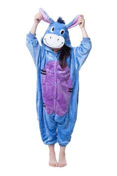Donkey Kids Onesie Kigurumi Pajamas Unisex Children Cosplay Costume Animal >>> Click on the image for additional details.