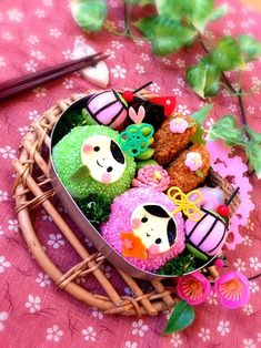 Hina-matsuri (Japanese Doll Festival) character bento. March 3rd is the doll festival, a day for girls in Japan.