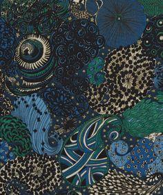 Octopus's Garden - Liberty Art Fabrics Midnight C Tana Lawn Cotton
