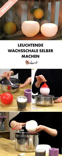 Leuchtende Wachsschale basteln -. kostenlose DIY-Anleitung via Makerist.de