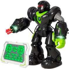 Intelligent Remote Control RC Action Robot - Black