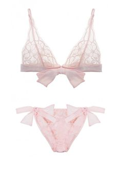 Fleur of England Rose Boudoir Bra and Bow Tie Brief